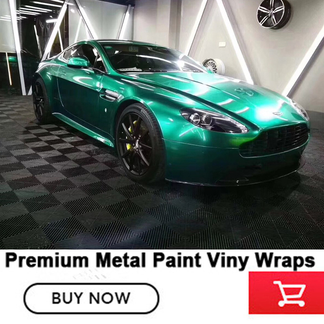 Highlight Metal Car Vinyl Wraps Emerald Full Wrap Car Vinyl Wraps