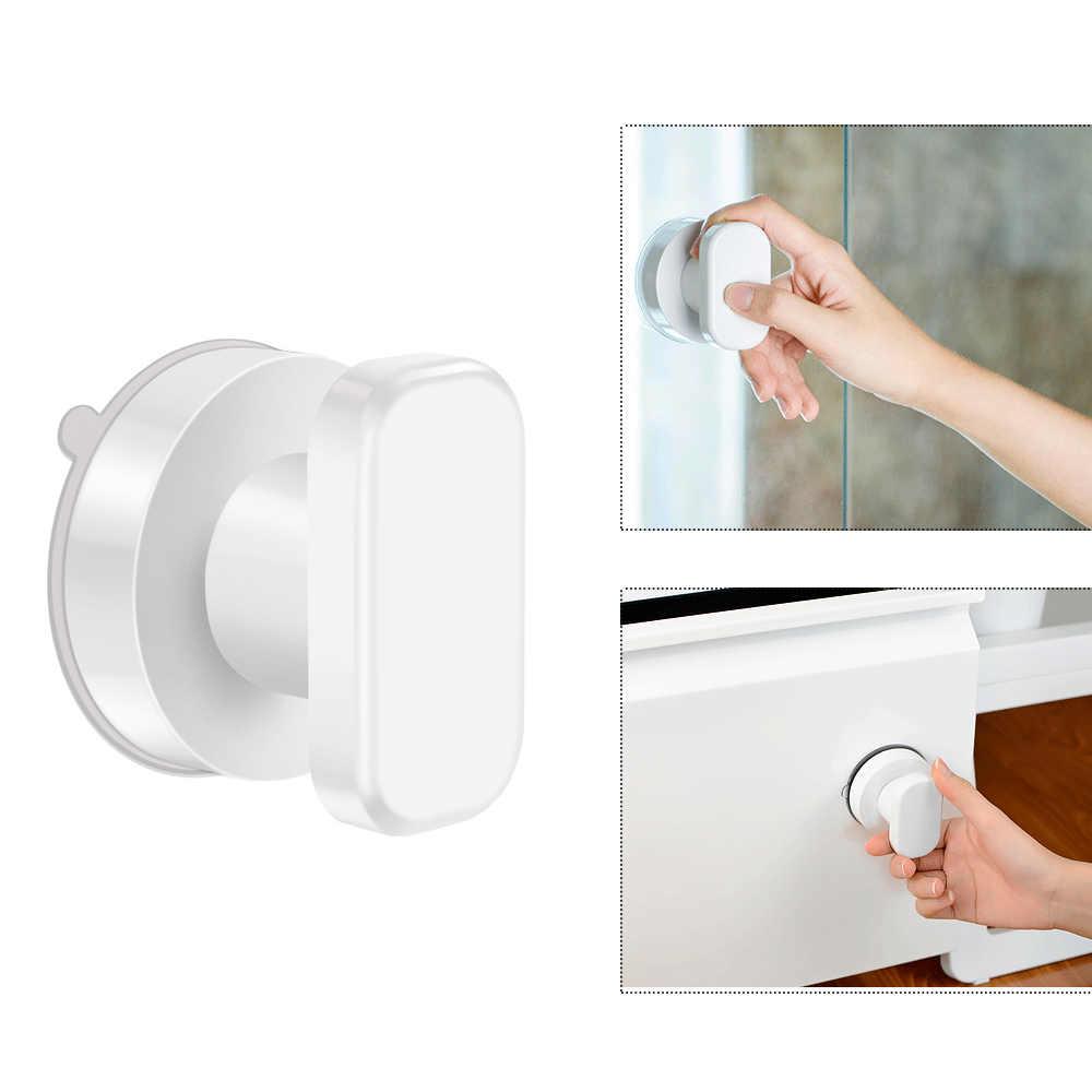 Сильная мощная клейкая стеклянная ручка для ванной комнаты спальни Потертость чашки выдвижной ящик для подвесных кухонных аксессуаров