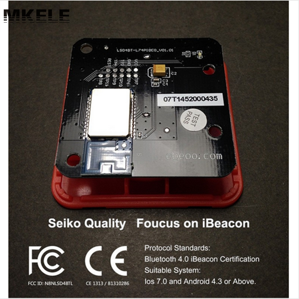 US $15 85 |Hot Sale Low Energy IBeacon Bluetooth BLE 4 0 Proximity Device  Ebeoo Beacon Pro Power With Battery Direct China-in Connectors from Lights  &