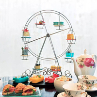 Cupcake Holder Rotatable Pastry Ferris Wheel Home Party Cake Stand Supplies Kitchen 8 Cups