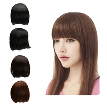 1pc Natural Synthetic Short Fake Fringe Bang Hair Extensions Clip On B
