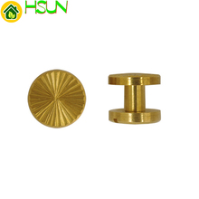 1 pc 5mm Solid Brass Gold Chicago Screw Flat Head Nail Belt Stud Rivet Strap Fastener Assembling Bolt