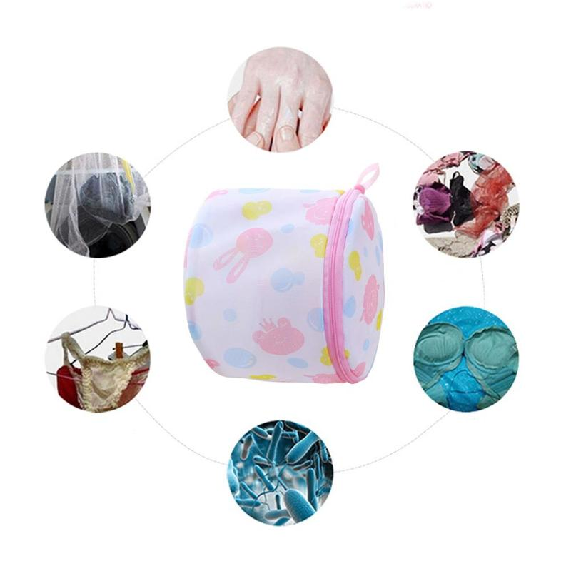 Lingerie Washing Home Use Mesh Clothing Underwear Organizer Washing Bag Useful Mesh Net Bra Wash Bag Zipper Laundry Bag
