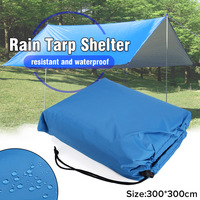 10x10ft Waterproof Nylon Rectangle Awning Sun shading net Sun Shade Sail Outdoor Sun Shelter Rain Tarp Tent Cover