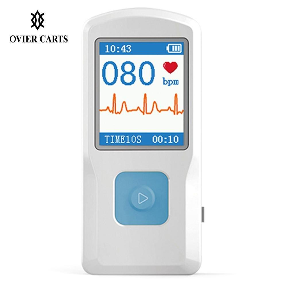 Портативный Аппарат Для электрокардиографии ручной цвет экран ЭКГ мониторы сердце машина BT зарядка через usb PC программы для компьютера дом...