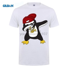 GILDAN Dabbing Animal Shirt - Funny Penguin T Shirts High Quality Top Tees Slim men T-Shirt Cheap Wholesale