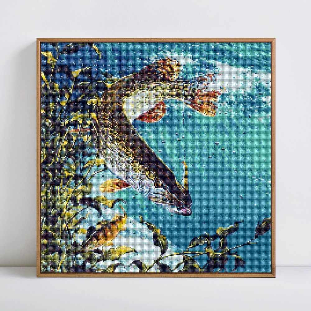 HUACAN 5D DIY เพชรภาพวาดเต็มรูปแบบเพชรเย็บปักถักร้อยปลาโมเสคภาพ Rhinestone Decor ใหม่ปีของขวัญ