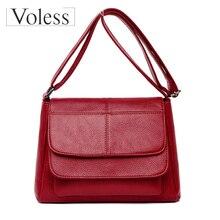 Luxury Leather Women High Quality Handbag Sheepskin Genuine Crossbody Messenger Bags Simple Designer Shoulder