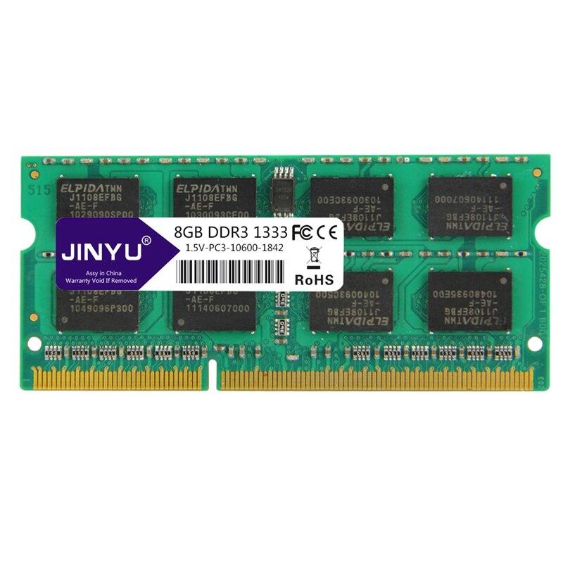 JINYU DDR3 8G 1.5 V 204 broches mémoire RAM pour ordinateur portable 1333 MHz