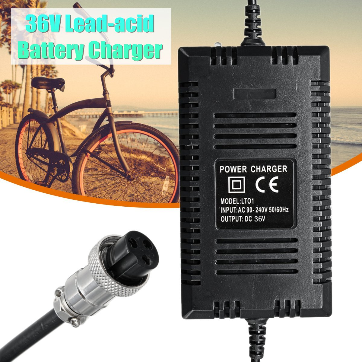 36V 2A Electric Scooter Ebike Charger Lead-acid Battery Charger Wide Pressure For Bicycle-modified Electric Vehicles