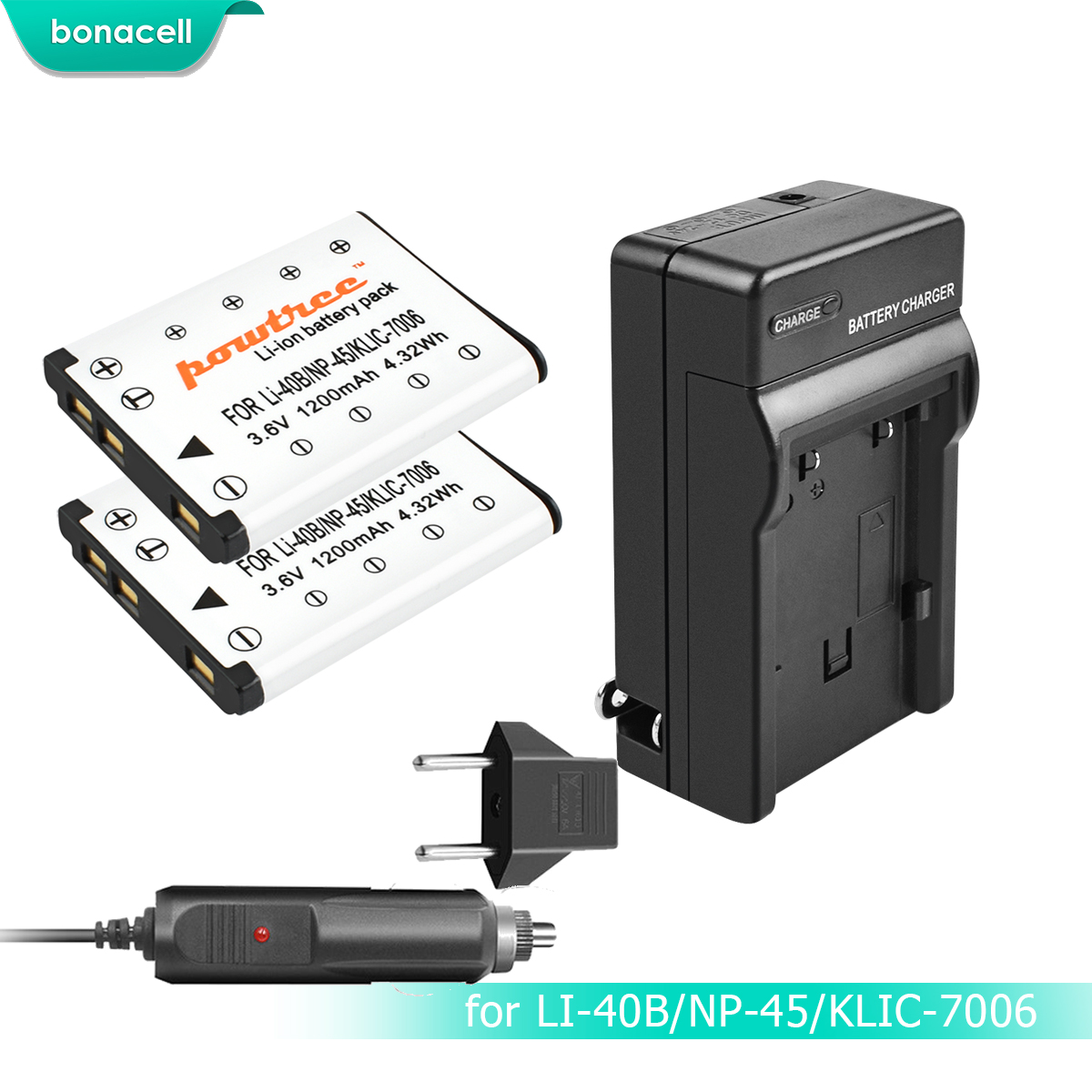Bundle /Ver Lista de compatibilidad 2/Bater/ías Cargador para Fuji Fujifilm NP-45/