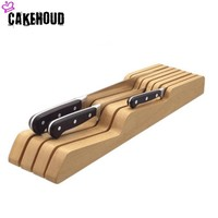 CAKEHOUD Solid Wood Drawer Type Knife Holder Kitchen Knife Tool Storage Rack Tableware Display Stand Bracket And Storage Rack
