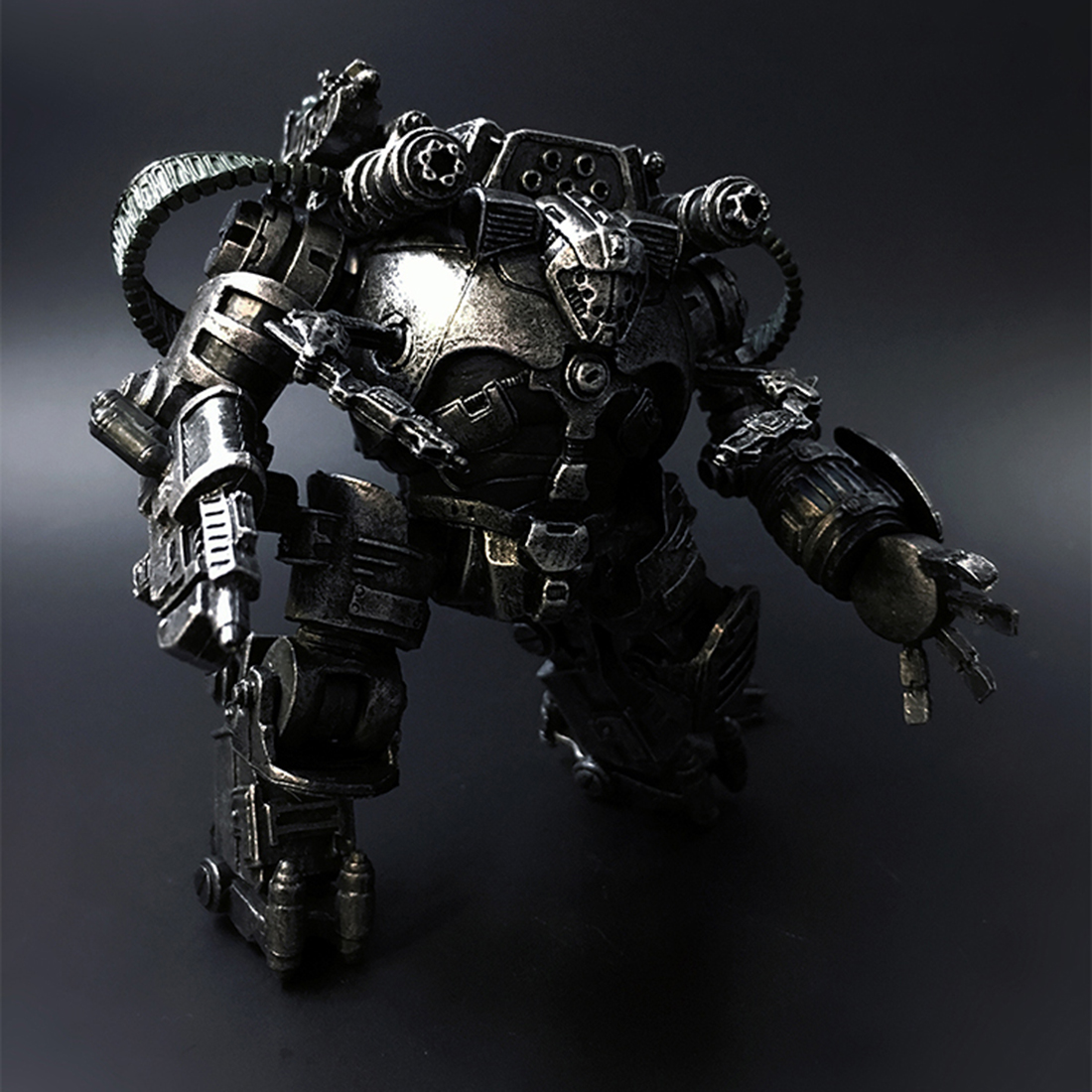 10.5cm Attack Mech Model Destroyer 3D Stitching Movable Soldier Model DIY Stem Toy With High Degree Of Reduction