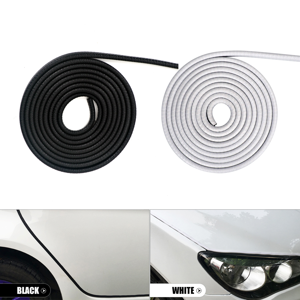 7mm 10m Car Door Edge Guard Protector Trim Strip Scratch Auto Anti Collision Styling Moulding Body