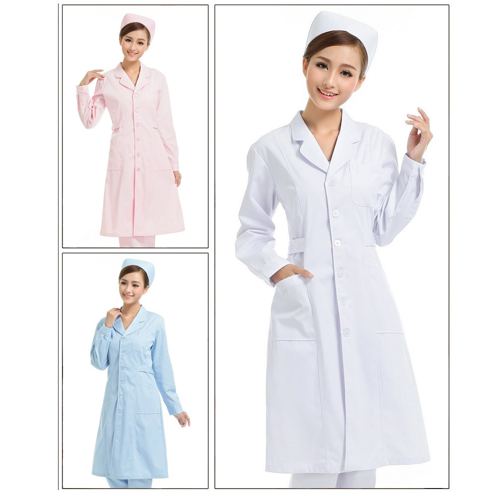 Work Wear & Uniforms Nurse Uniform 2019 Fashion Rushed Scrubs Medical Uniforms Nurse Long Sleeved Female Winter Dress Coat Short Doll Collar Thickened Student Work Suit Warm And Windproof