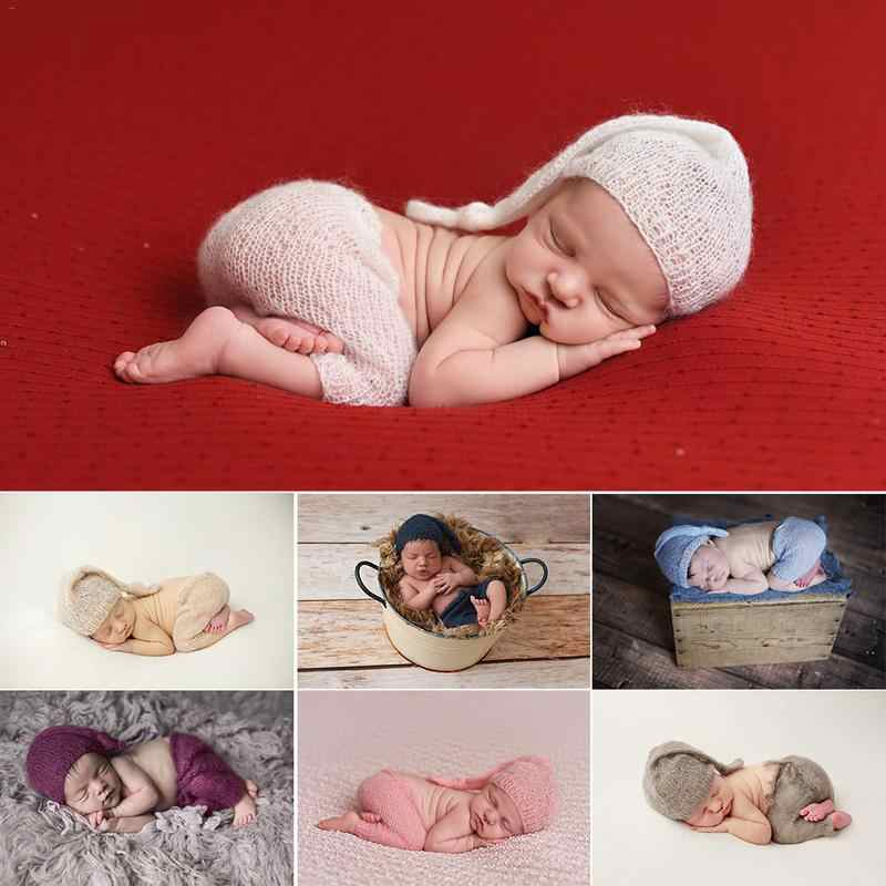 7 colors Newborn Baby Boys Girls Cute Crochet Knit Costume Prop Outfits Photo Photography prop