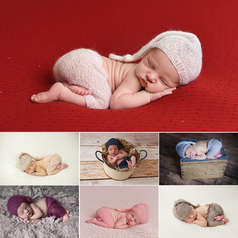 Soft Velvet Posing Pillow with Bow Headband DIY BabyPhotoshoot for Baby Boys Girls puseky Newborn Photography Props