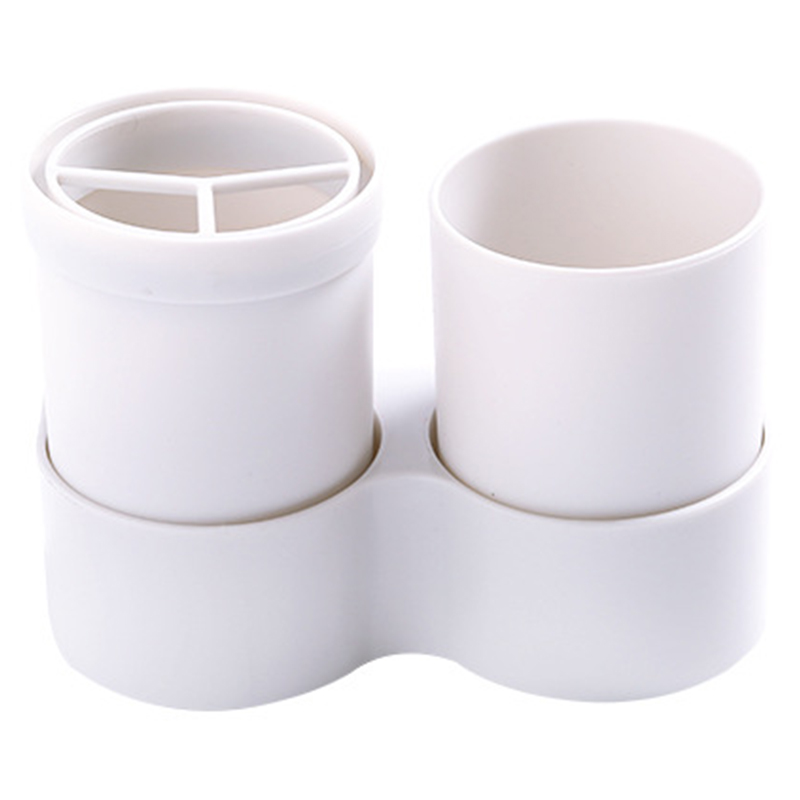 White Toothbrush Holder Wall Hanging Toothpaste Mouth Cup Waterproof Hanging Storage Shelf Kitchen Bathroom Organizers