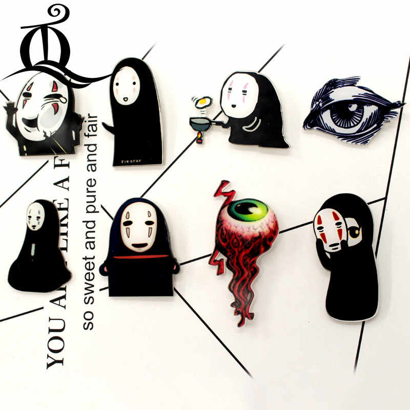 Gratis Pengiriman 1 Pcs Kartun Bros Campuran Setan Ikon Di Ransel Akrilik Lencana Kartun Pin untuk Pakaian Dekorasi Lencana 15