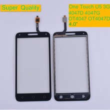 10Pcs/lot Touch Screen for Alcatel One Touch U5 3G 4047D 4047G 4047 OT4047 OT4047D Touch Digitizer Panel Front Glass Lens Sensor $ a protective film touch digitizer for 7 digma hit ht7071mg 3g tablet touch panel glass sensor