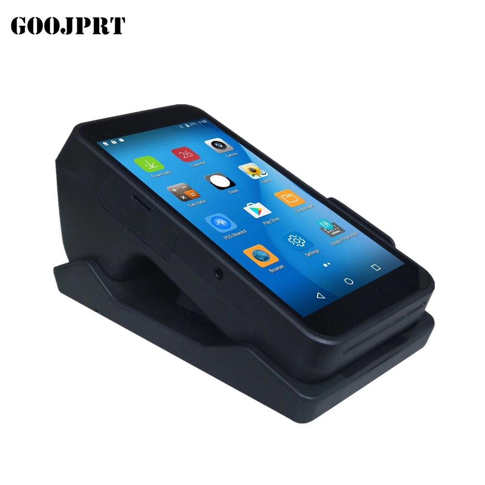 Système POS Terminal PDA Avec Sans Fil Bluetooth et Wifi Android avec Imprimante Thermique Intégré et Code À Barres Scanner