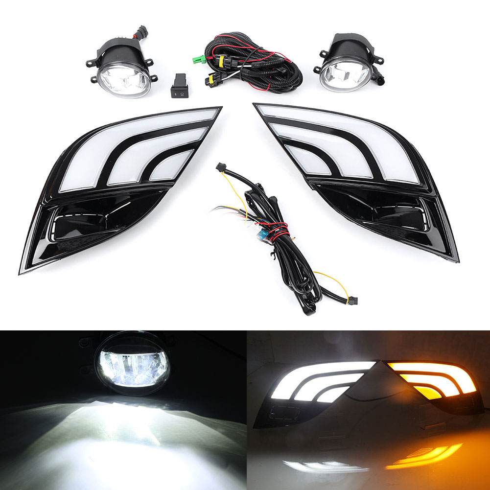 hight resolution of car led drl turn signal lamp fog light wiring kit for toyota camry se xse 2018 in signal lamp from automobiles motorcycles on aliexpress com alibaba