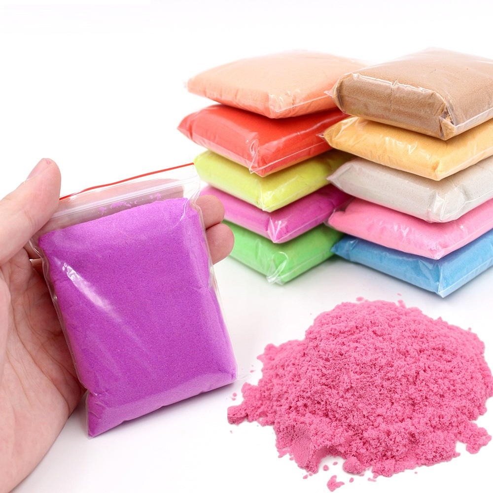 100g/bag DIY Magic Sand Toy Colored Clay Educational Toys Soft Slime Space Sand Supplies Play Sand Antistress Kids Toys