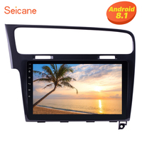 Seicane 10.1 for 2013 2014 2015 VW Golf 7 with WIFI FM Android 8.1 Touchscreen Bluetooth 2 DIN Car Radio GPS Navigation