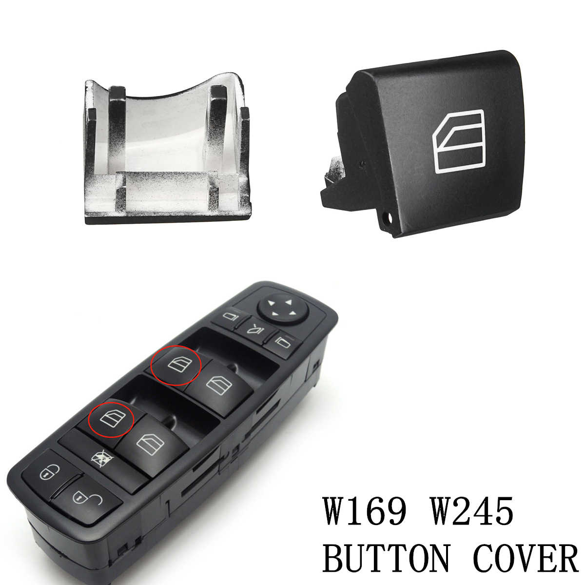 1Pc Window Switch Left Replacement Button Cover Cap For Mercedes A B Class W245 W169 Car Window Switch Cap Car String