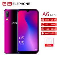 Elephone A6 мини мобильный телефон 4G смартфон 5,71 19:9 в виде капли воды, Экран Android 9,0 MT6761 4 ядра, 4 Гб оперативной памяти, 32 Гб встроенной памяти/64 GB 16MP