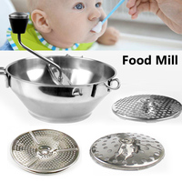 Stainless Steel Agitator Fruit and Vegetable Grinder Ricer Potato Jam Grinder Baby Food Mill Machine Multi function Kitchen Tool