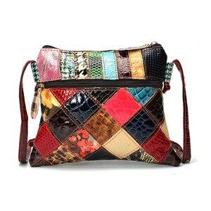 Image 3 - AEQUEEN Kleurrijke Schoudertassen Voor Vrouwen Messenger Bag Patchwork Kleine Flap Tassen Design Crossbody Bolsas Feminina Heldere Kleur