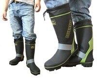Fishing waterproof boots outdoor men's non slip reflective strips equipment supplies garden farms mine work men water aqua shoes