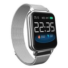 Спортивные водонепроницаемые Смарт часы Y6 pro с 3d интерфейсом, пульсометром, тонометром, фитнес трекером, браслет для Android IOS