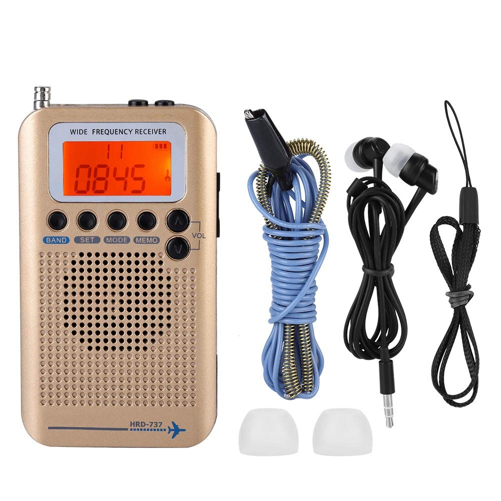 Top Portable Aircraft Radio Receiver Full Band Radio Receiver AIR FM AM CB SW VHF LCD Display With Backlight Chip Has A Power in Radio from Consumer Electronics