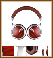 Blon Bosshifi S6 Wooden Wired Headphone Stereo Super Bass HIFI Music DJ Monitor Headset 50mm Speaker 3.5mm Phone PC Earphones