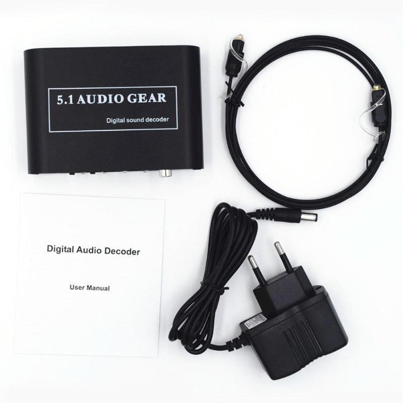 Digital Audio Decoder 5.1 Audio Gear DTS/AC3/6CH Digital Audio Converter LPCM To 5.1 Analog Output 2.1 DVD PC for PS2 PS3Digital Audio Decoder 5.1 Audio Gear DTS/AC3/6CH Digital Audio Converter LPCM To 5.1 Analog Output 2.1 DVD PC for PS2 PS3