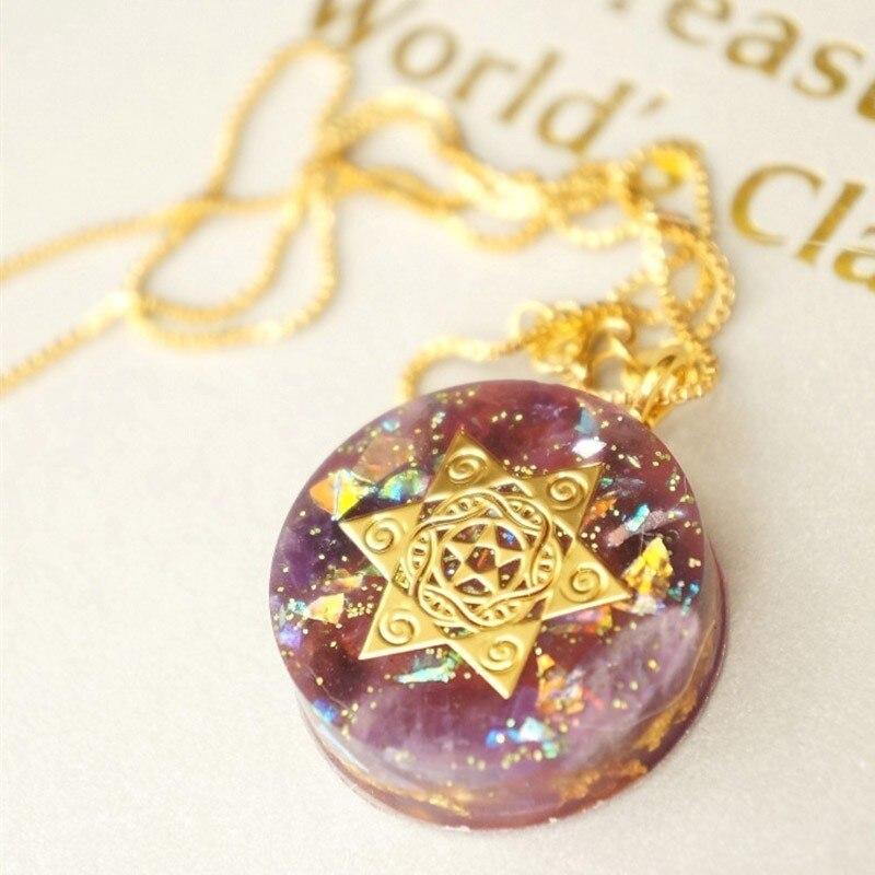 Elite orgon Necklace For Women Natural Chakra Orgonite Energy Pendant Energy Converter Reiki Healing Change Fortune
