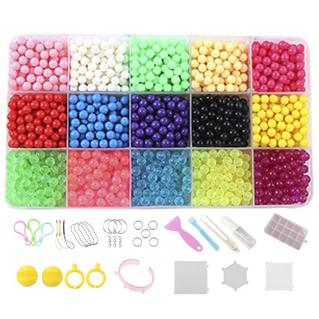Assorted:  Fuse Beads Kit Creative Magic Assorted Color Art Craft DIY Water Beads Sticky Beads for Kids - Martin's & Co
