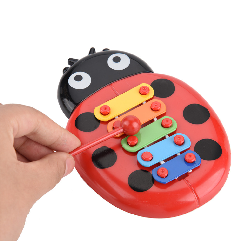 US $1.48 30% OFF|Zabawki dla dzieci kolorowe biedronka dziecko Kid 8 Note ksylofon zabawki muzyczne rozwój mądrości instrumenty muzyczne dla dzieci