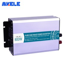 Inverter 800W Pure Sine Wave Solar Power Inverter DC 12V 24V 48V To AC 110V 220V Converter Transformer Power Supply maitech 03100637 20w dc 12v to ac 220v step up transformer inverter power boost module green
