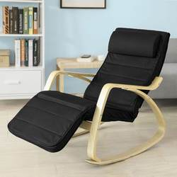 SoBuy FST16-SCH новый удобный расслабляющий качалка стул с подставкой для ног дизайн шезлонг кресло