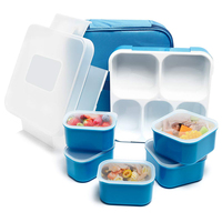 High Recommend iTECHOR Lunch Box 5 Compartment Insulated Leakproof Food Storage Container Bento Box Blue/Purple/Green