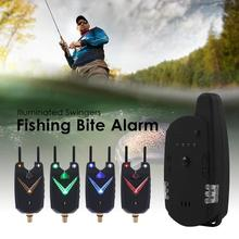 JY-59 Wireless Carp Fishing Bite Alarm Fishing Rod Illuminated Swingers Anti-off Bar Alert Set Fishing Tackle Tool
