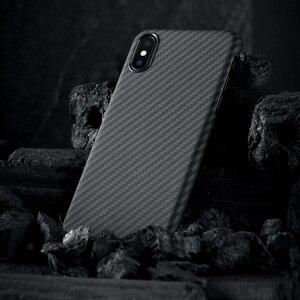 Image 2 - פחמן סיבי מקרה עבור iPhone X מקרה מט ארמיד סיבי Ultra דק באיכות טלפון כיסוי עבור iPhone XS XS מקסימום מקרה Coque