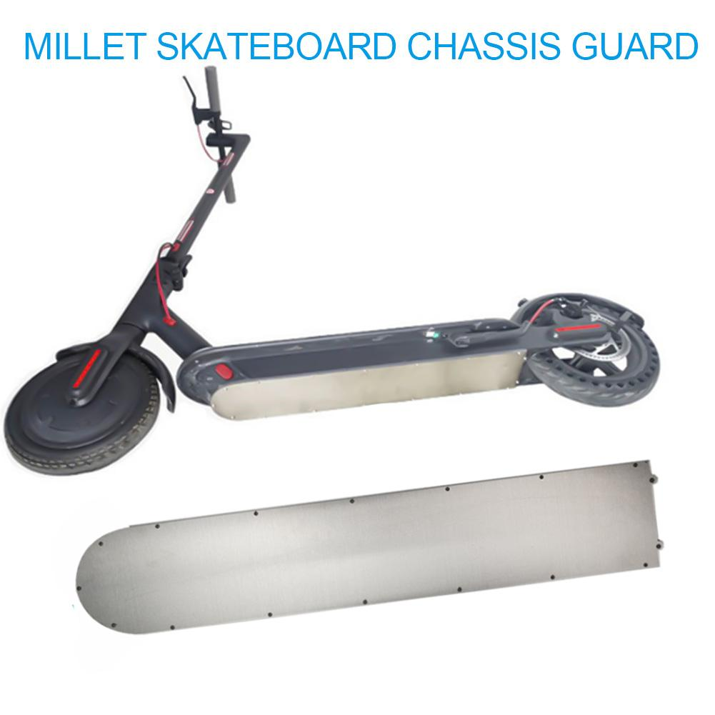 Image 2 - For Xiaomi Mijia M365 Scooter Bottom Battery Cover anti collision Plate Guard Chassis Stainless Armor Safer Scooter Parts-in Skate Board from Sports & Entertainment