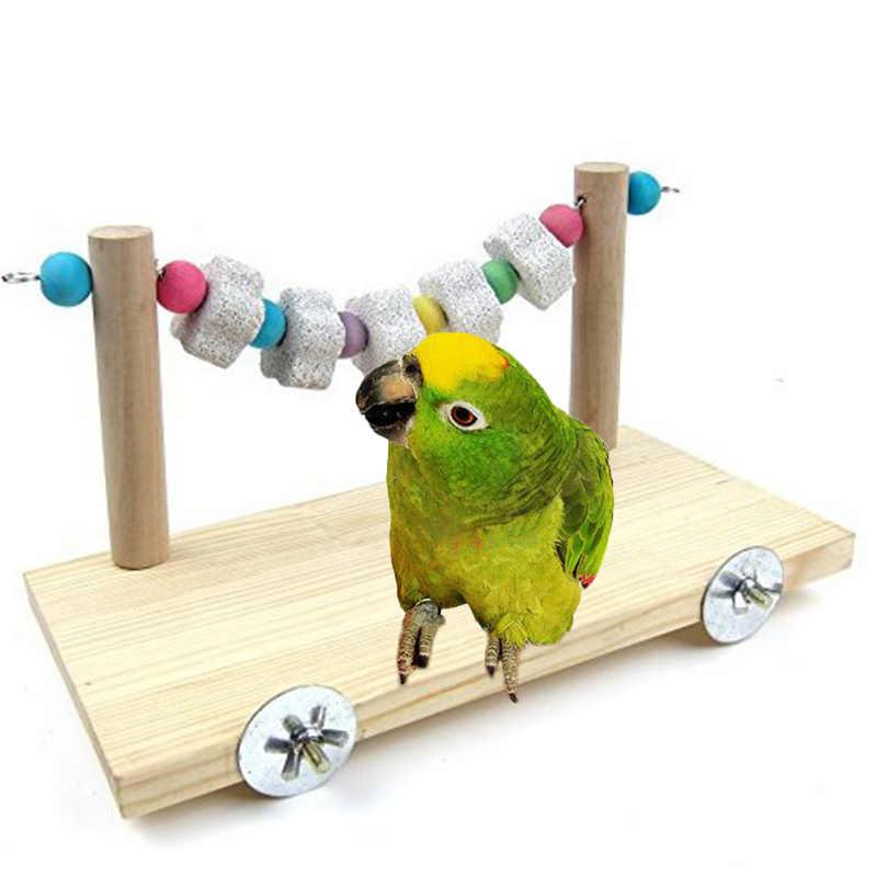 Для попугаев, для кусания Игрушка веревка для птицы бар трамплин качели Grindstone строка цепи