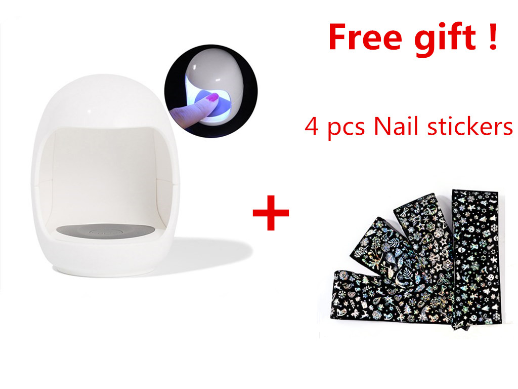 UV LED Nail Lamp Nail Dryer Gel Polish Curing Lamp With Bottom With 4pcs Free Nail Stickers LCD Display Lamp For Nail Dryer