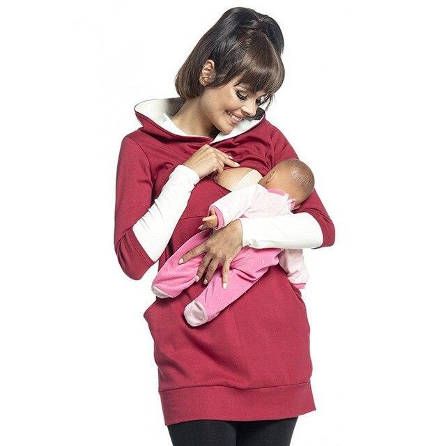 יולדות סיעוד הסווטשרט חורף הריון בהריון נשים סלעית חולצות T חולצה סתיו בגדי הנקה