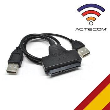 ACTECOM CABLE USB 2.0 A SATA ADAPTADOR DISCO DURO LECTOR DVD